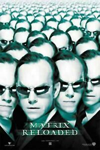 THE MATRIX RELOADED MOVIE POSTER 2 Sided ORIGINAL 27x40 ...