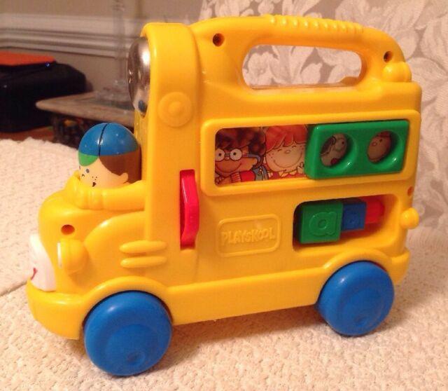 Playskool Busy School Bus Vintage 1998 Developmental Toy 5527
