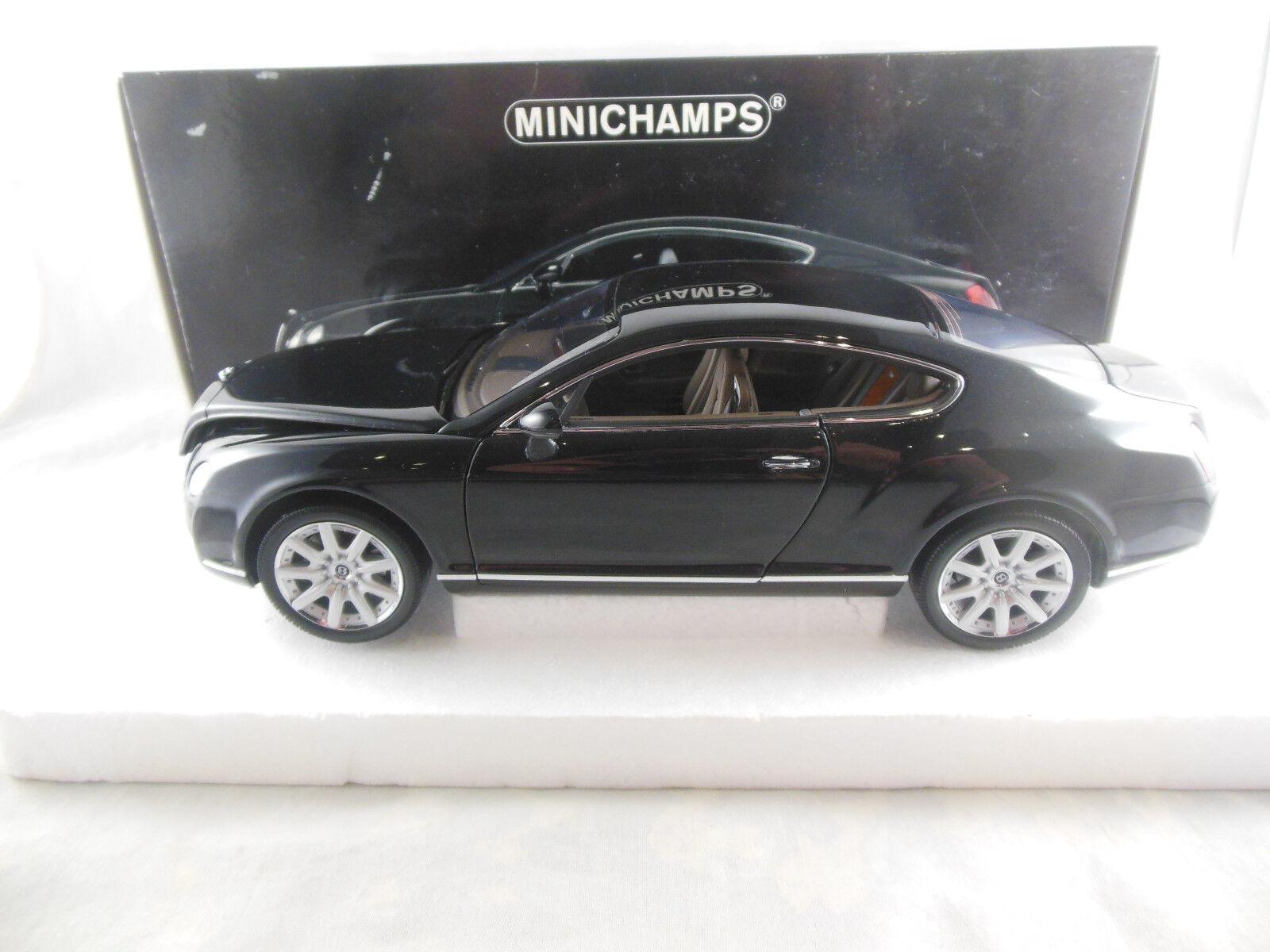 en promociones de estadios Raro Raro Raro Minichamps 100 139020 Bentley continenetal GT en Negro Metálico Escala 1 18  para mayoristas