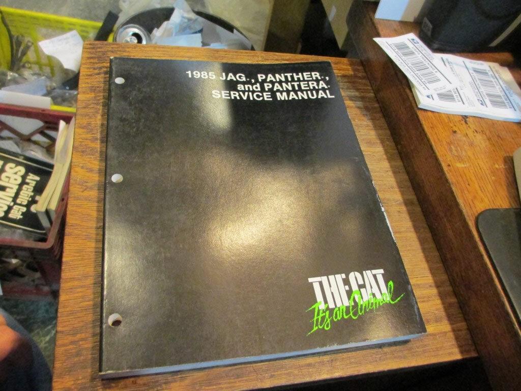Arctic Cat Snowmobile Service Manual 1985 Jag Panther Pantera 2254-310