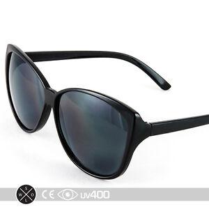 05336fbceb986 Image is loading Black-Vintage-Cat-Eye-Cateye-Shaped-Sunglasses-Classy-