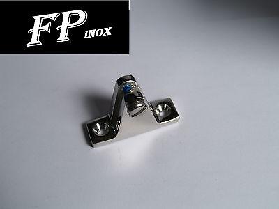 Platine pour arceau de capote 55 x 25mm  inox 316