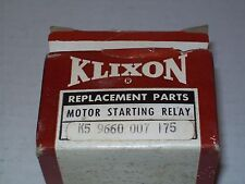 NEW KLIXON 9660-007-175 1/4-1/3HP MOTOR START RELAY 13.8A ON / 11.5A OUT P970