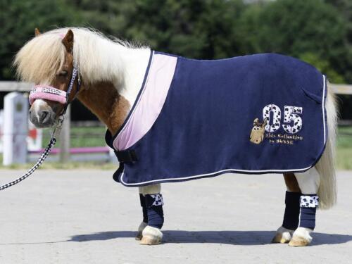 BUSSE KIDS COLLECTION V Abschwitzdecke Pferdedecke Pferde Decke Pony 125 navy