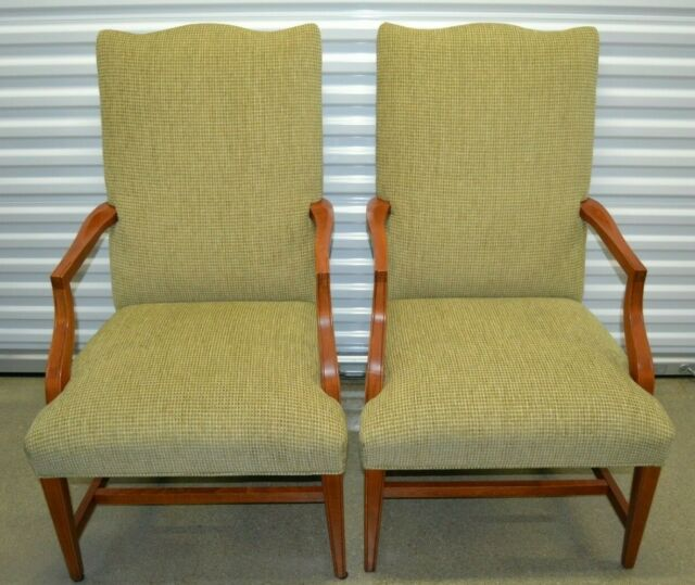 Ethan Allen Martha Washington Chairs Upholstered Dining Accent Chairs #20-7471