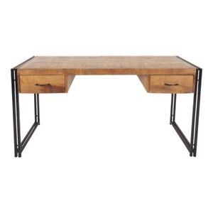 schreibtisch b rotisch tisch massiv holz mango metall design industrie loft neu ebay. Black Bedroom Furniture Sets. Home Design Ideas