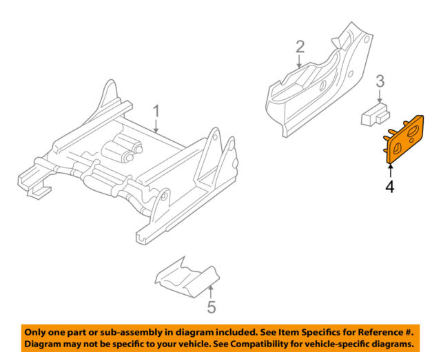 Genuine GM 88941674 Seat Adjuster Switch Bezel Front