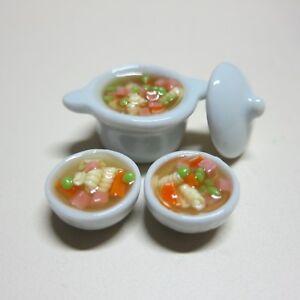 Set of 4 Bowl of  Ramen Noodles Dollhouse Miniatures Japan Food Supply Deco 4