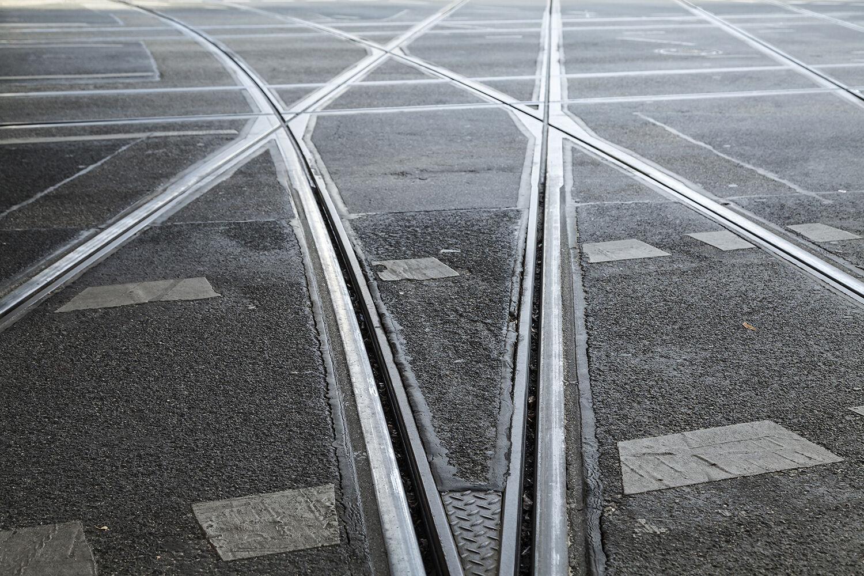 Rail Tram Tram Berlin toile Poster Aluminium Forex Acrylic Glass Picture