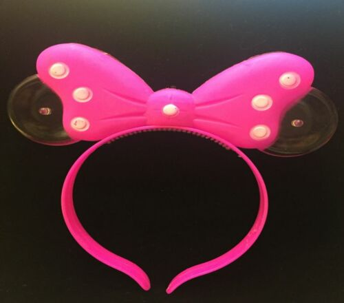 8 PCs LED Light Up Polka Dot Minnie Mickey Mouse Bow party Headband Assorted