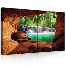 CANVAS Wandbild Leinwandbild Bild Wasserfall Wald Magie Ausblick Foto 3FX10258S7