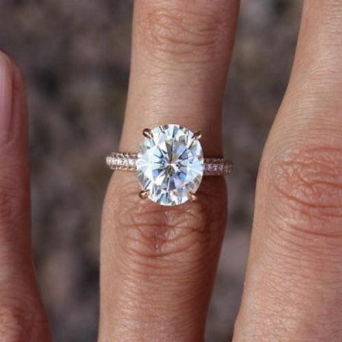 4 Ct Oval-Cut Diamond Solitaire Engagement /& Wedding Ring 14K Rose Gold Over