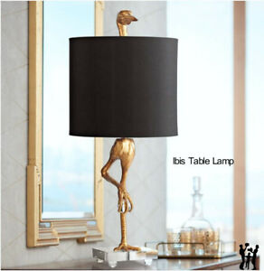 Image Is Loading Ibis Table Lamp Black Amp Gold 05206 Horchow