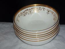 SET of 6 Royal Doulton Gold Gilt H 4991 Belmont 13cm FRUIT SAUCER DESSERT BOWLS