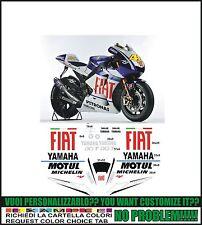 kit adesivi stickers compatibili r1 r6 moto gp m1 fiat rossi lorenzo