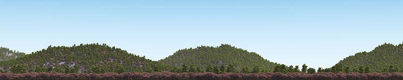 [HAKONIWAGIKEN] Diorama Sheet PRO Mountain-A Spring W3000xH600mm 3M  sakura