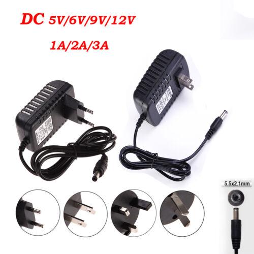 EU//US Plug AC 100-240V to DC 12V 9V 6V 5V 1A 2A Power Supply Converter LED Light