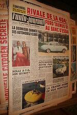 L'AUTO - JOURNAL  N° 260 DU 01 DECEMBRE 1960  MAGAZINE COMPLET NON PLIE