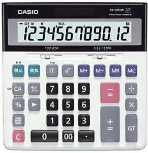 Image Is Loading Casio Calculator 12 Digit Ds 120tw Tax Adder