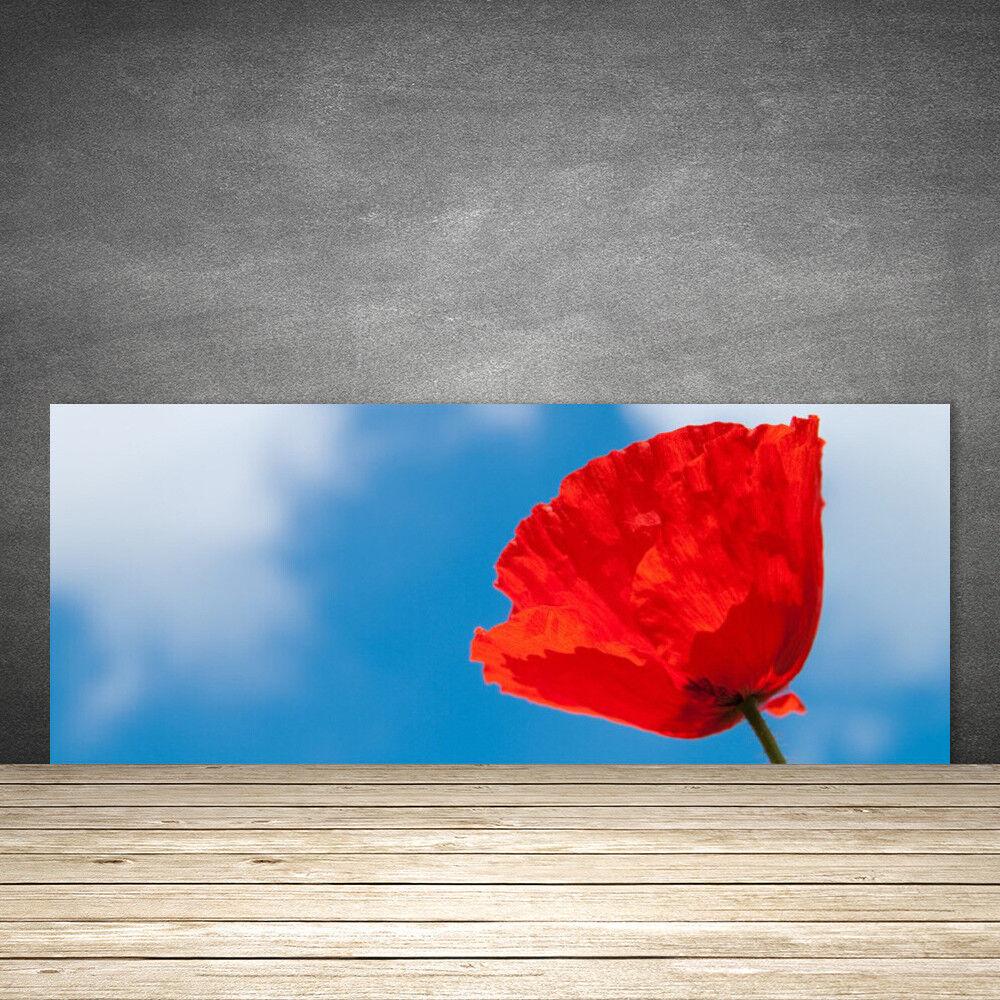 Crédence de cuisine en verre Panneau 125x50 Floral Tulipe