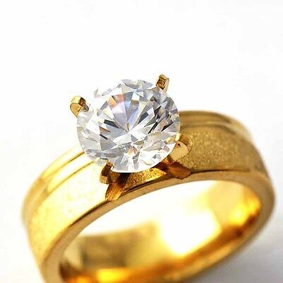 wholesale stainless steel rings womens Gemstone engagement wedding ring