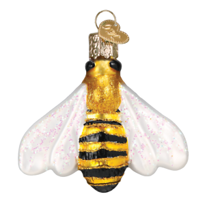Old-World-Christmas-HONEY-BEE-12520-N-Glass-Ornament-w-OWC-Box