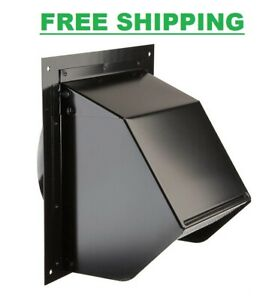 Wall Vent Cover Exterior Cap 6 Inch, Bathroom Fan Vent Cover Outside