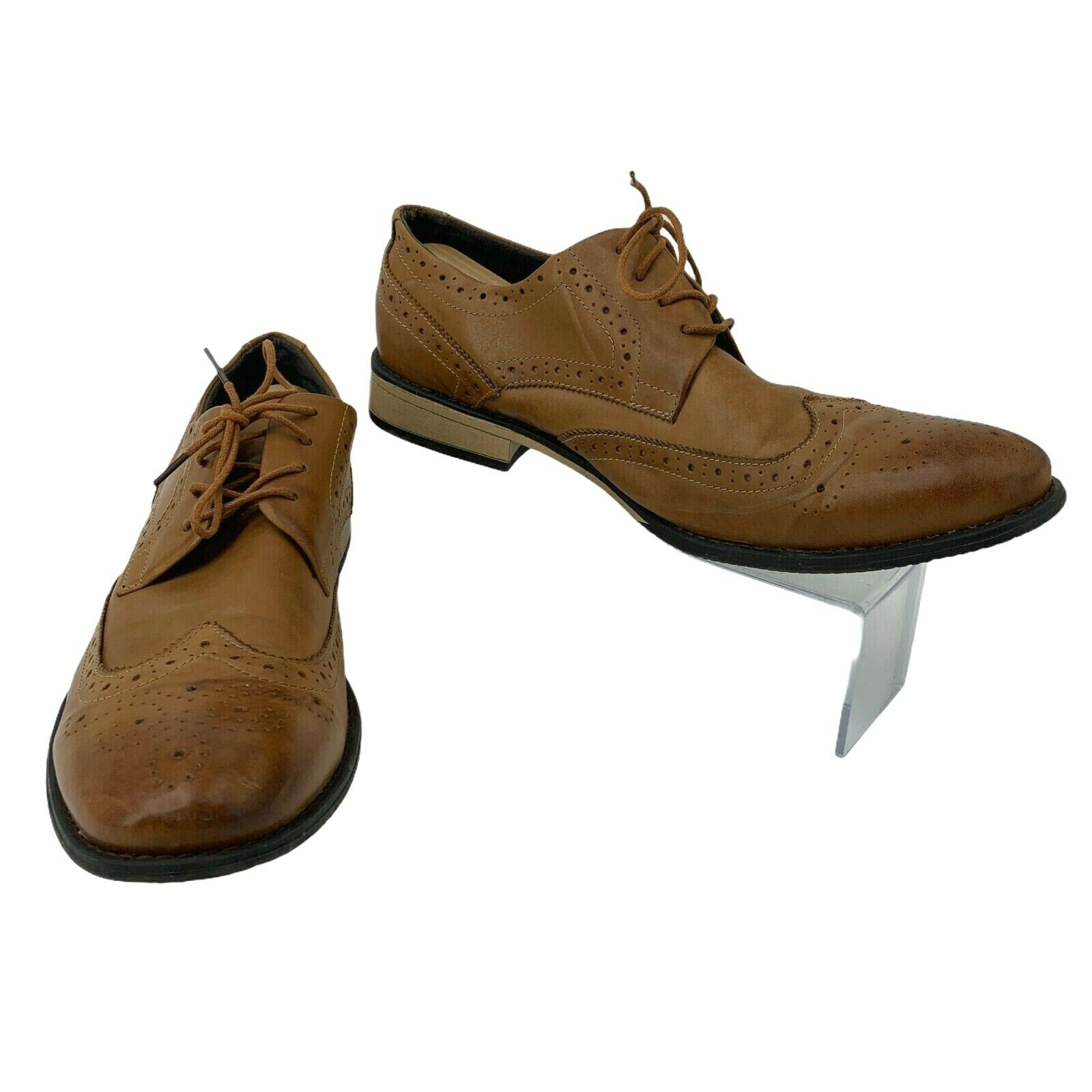 J75 by Jump Malone Dress Shoes Mens Size 13 Brown Oxford Wingtip Business Casual
