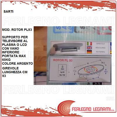 Sarti Mobili Porta Tv.Sarti Rotor Pl 93 Supporto In Legno Argento Girevole X Tv Plasma O