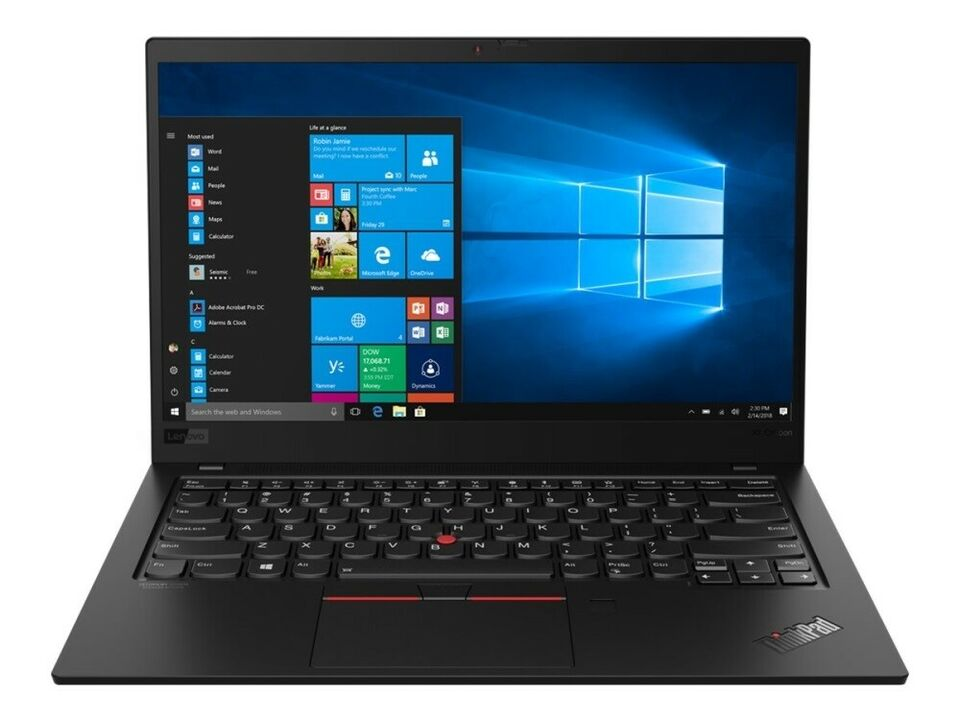 Lenovo ThinkPad X1 Carbon (7. Gen) med 4G, 1.80 GHz, 16 GB ram