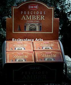 Hem-Precious-Amber-Incense-10-20-50-100-120-Cones-U-Choose-Amount