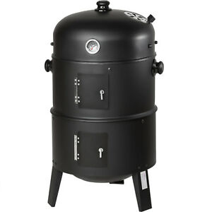 3in1-BBQ-Grill-a-legna-e-carbone-Barbecue-Smoker-Carbonella-Griglia