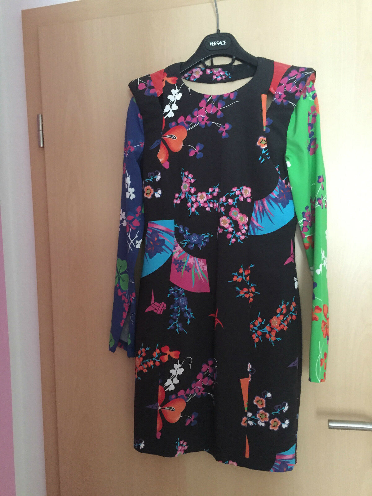 Versace for H&M Kleid Dress Seide Silk Größe EUR 34 US 4 UK 8