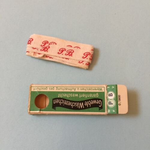 """Vintage brodé initiale cassettes /""""P/"""" 1st-Lettre monogramme linge étiquettes"""