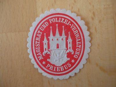 Magistrat Und Polizeiverwaltung Priebus Siegelmarke Klug 15085