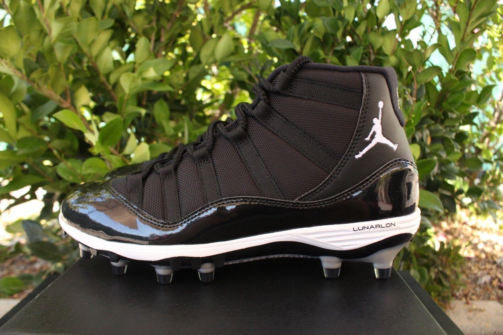 Nike Air Jordan 11 Retro Xi TD Cornamusa Plata Sz 9 Negro Blanco Plata Cornamusa AO1561011 335dbb