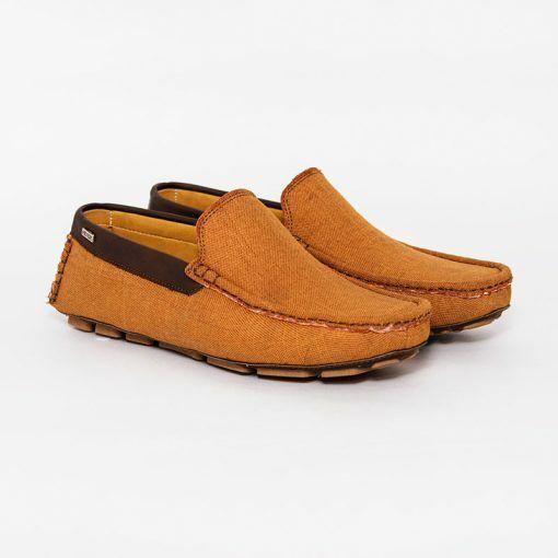Moccasins Canvas Mustard Men Shoes HENDZ