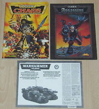 Warhammer 40,000 40k Codex - Chaos (1996) and Assassins (1999) - Original Retro