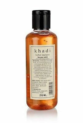 New Khadi Herbal Henna Tulsi Shampoo Herbal Product Natural Goodness 210 ML