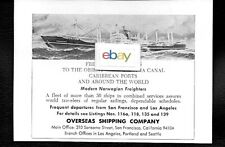 OVERSEAS SHIPPING CO SAN FRANCISCO SS TEMPAIRE FREIGHTER VOYAGES ORIENT 1968 AD