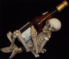 Nemesis Now One Too Many SKELETON WINE BOTTLE HOLDER  Skull Gothic Horror GIFT