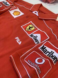 Ferrari-Marlboro-F1-Polo-shirt-Fila-Team-Issue-Pit-Crew-Michael-Schumacher