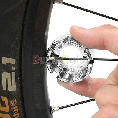 Bicycle Bike 8 Way Spoke Nipple Key Wheel Rim Wrench Spanner Repair Tool Mini