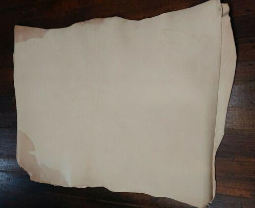 Vegetable Tanned Leather Double Shoulder Natural Belt Wallet Hand Bag Hide Skin