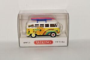 Wiking-079725-1-87-VW-T1-Bus-034-Fleur-puissance-034-Neuf-Emballage-D-039-Origine