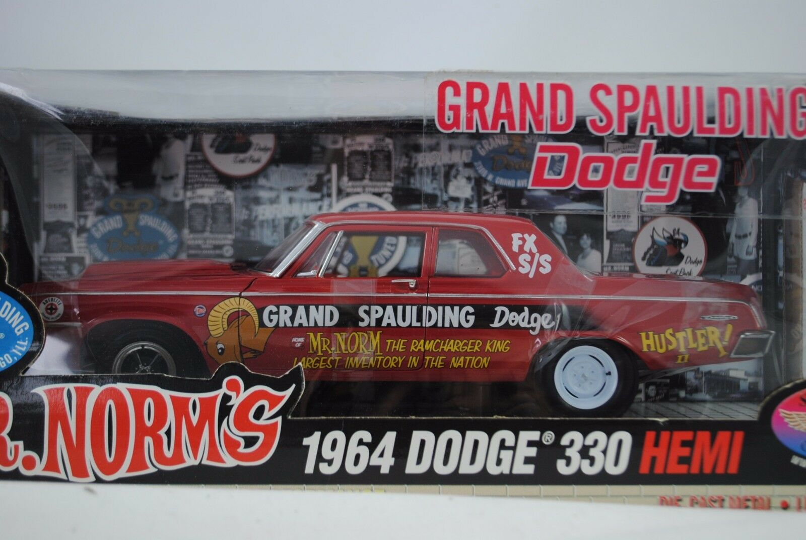 1 18 Highway 61 Supervoiture Coll.  Mr. norms 1964 DODGE 330 Hemi Grand Spaulding    prix raisonnable