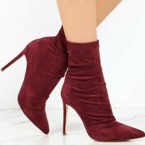 NEW Women Ankle Boots Lace Up High Heels Boots Party Shoes Woman Plus Size 4-15