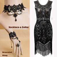 Xmas 1920s Flapper Dress Great Gatsby Fringe sequin Beads Fancy 20s Girl Costume