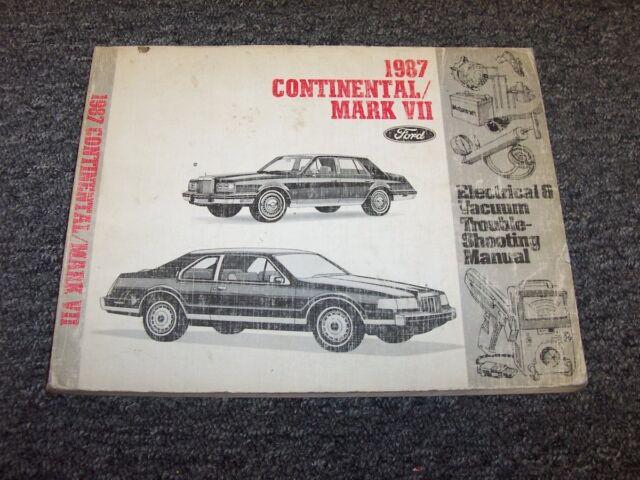 1987 Lincoln Mark Vii 7  U0026 Continental Electrical Wiring  U0026 Vacuum Diagram Manual