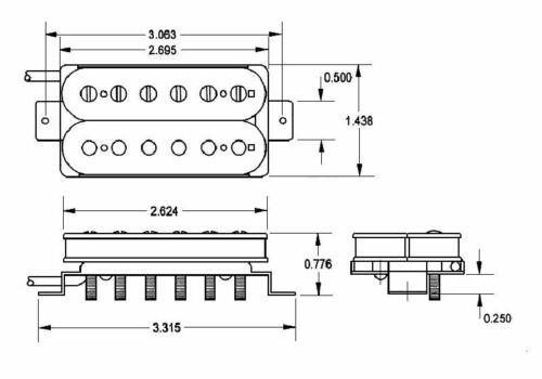 raw nickel Seymour Duncan Alnico II Pro Slash APH-2 Humbucker Pickup Set